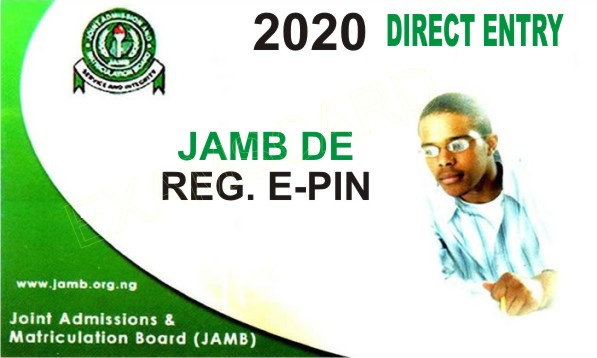 JAMB DIRECT ENTRY 2020